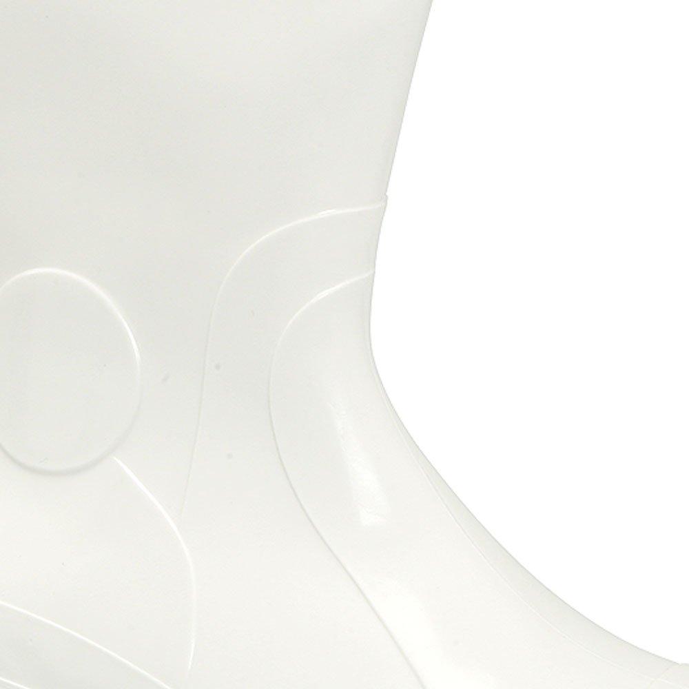 Bota de PVC Branca Nr. 37 com Cano Curto e Revestimento Interno - Imagem zoom