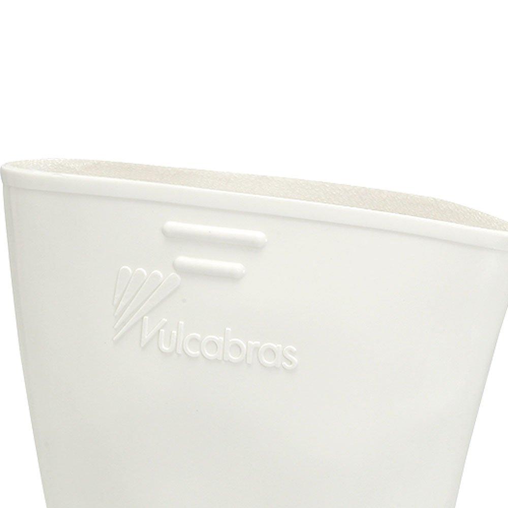 Bota de PVC Branca Nr. 40 com Cano Curto e Revestimento Interno - Imagem zoom