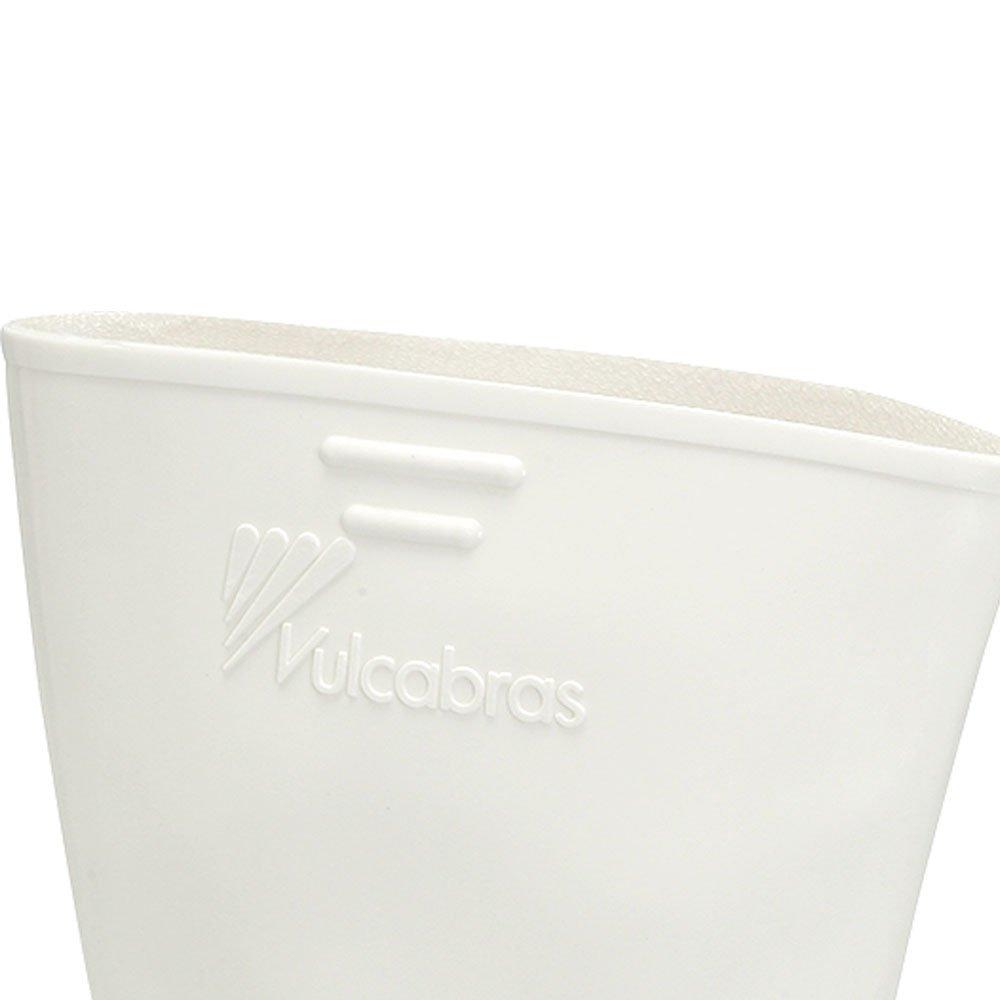 Bota de PVC Branca Nr. 42 com Cano Curto e Revestimento Interno - Imagem zoom