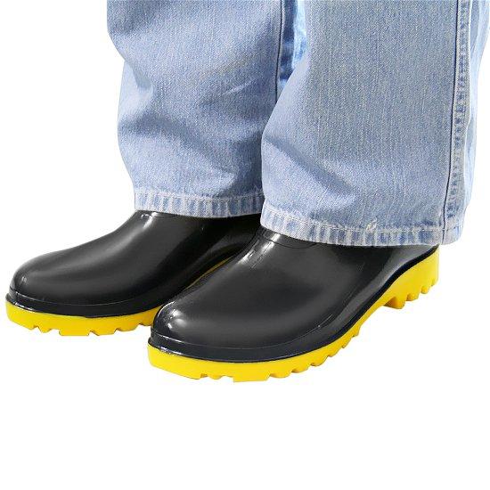 Bota Impermeável PVC Acqua Flex Cano Extra Curto Preto com Solado Amarelo N° 40 - Imagem zoom