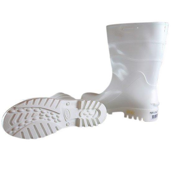 Bota Impermeável de PVC Acqua Flex com Cano Curto Branco N° 35 - Imagem zoom