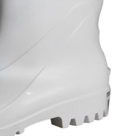 Bota Impermeável de PVC Acqua Flex com Cano Curto Branco N° 37 - Imagem zoom