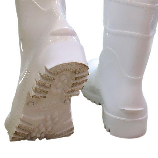 Bota Impermeável de PVC Acqua Flex com Cano Curto Branco N° 40 - Imagem zoom