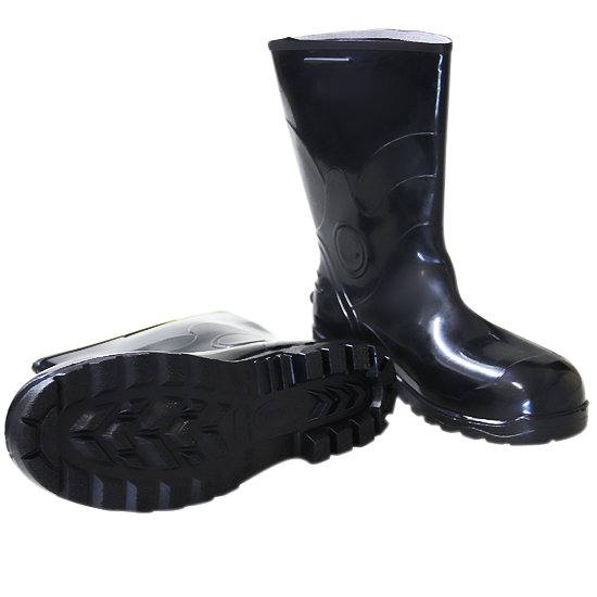 Bota Impermeável de PVC Acqua Flex com Cano Curto Preto N° 44 - Imagem zoom
