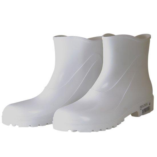 Bota Impermeável de PVC Acqua Flex com Cano Extra Curto Branco N° 37 - Imagem zoom
