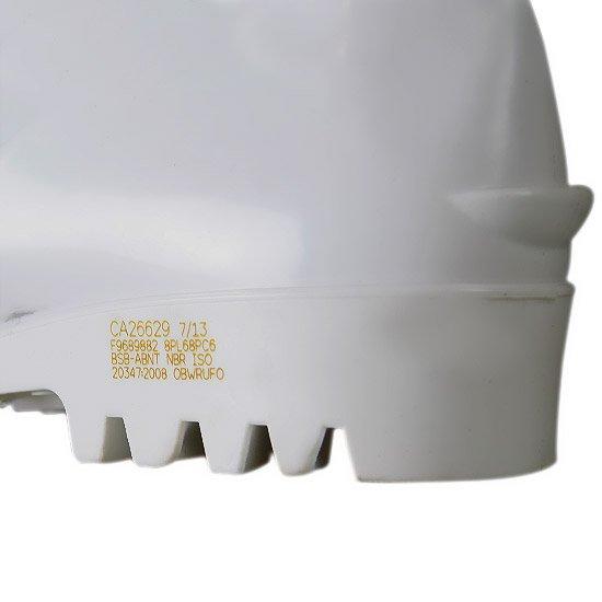 Bota Impermeável de PVC Acqua Flex com Cano Extra Curto Branco N° 40 - Imagem zoom