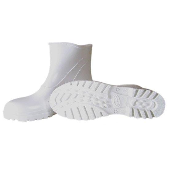 Bota Impermeável de PVC Acqua Flex com Cano Extra Curto Branco N° 41 - Imagem zoom