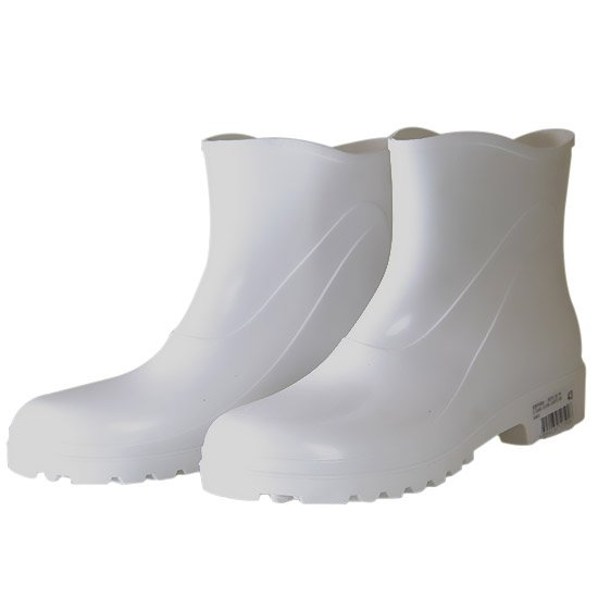 Bota Impermeável de PVC Acqua Flex com Cano Extra Curto Branco N° 44 - Imagem zoom