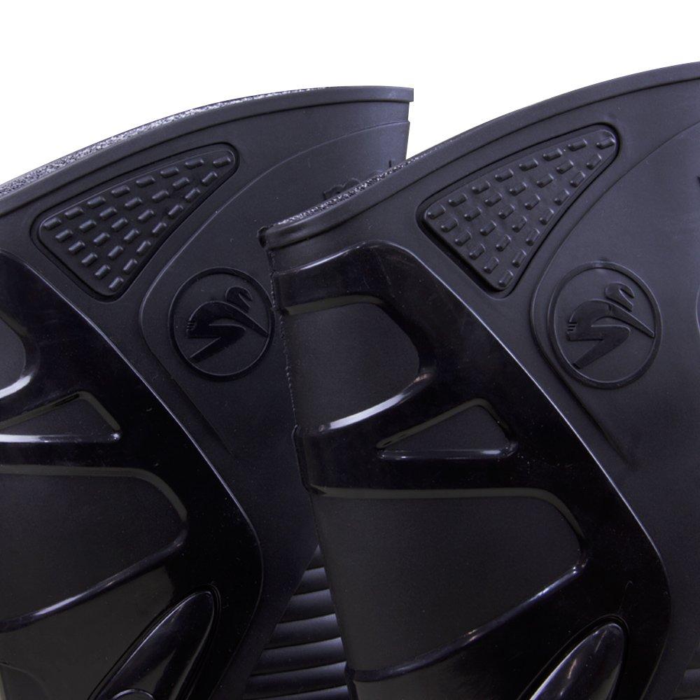 Bota de PVC N41 Preto com Sola Cinza para Motoqueiro - Imagem zoom