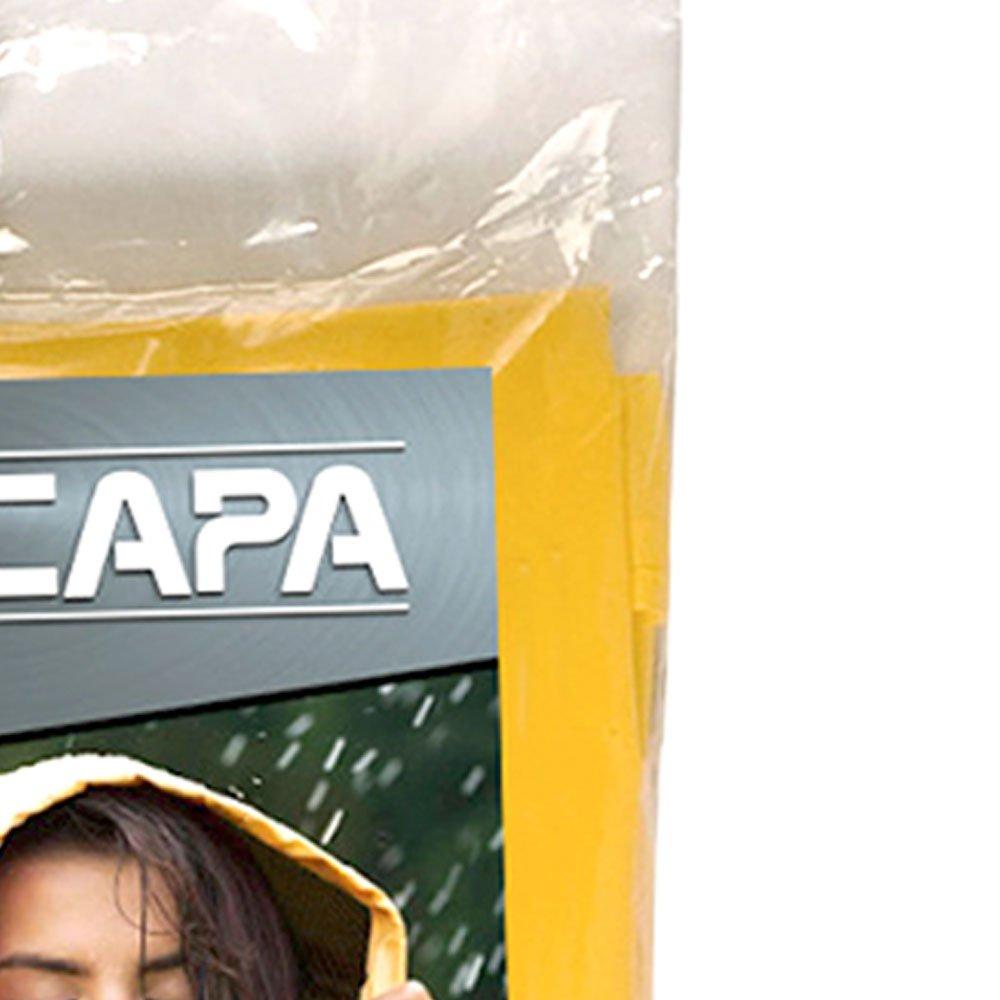 Capa de Chuva Amarela Tamanho Único - Imagem zoom