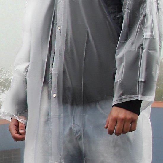 Capa de Chuva PVC Laminado Transparente com Capuz e Manga sem Forro - G - Imagem zoom