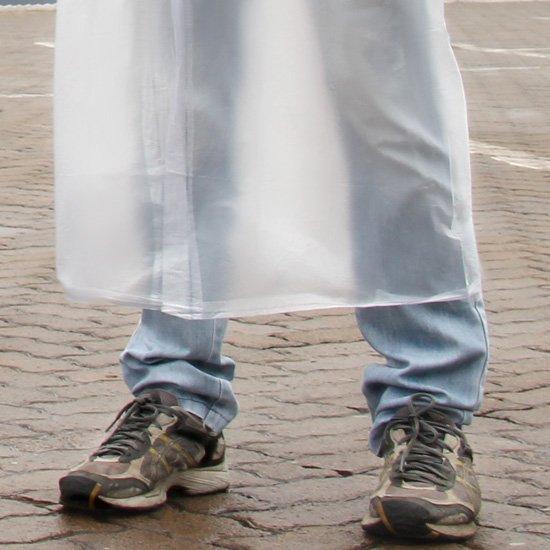 Capa de Chuva Transparente com Capuz e Manga GG - Imagem zoom
