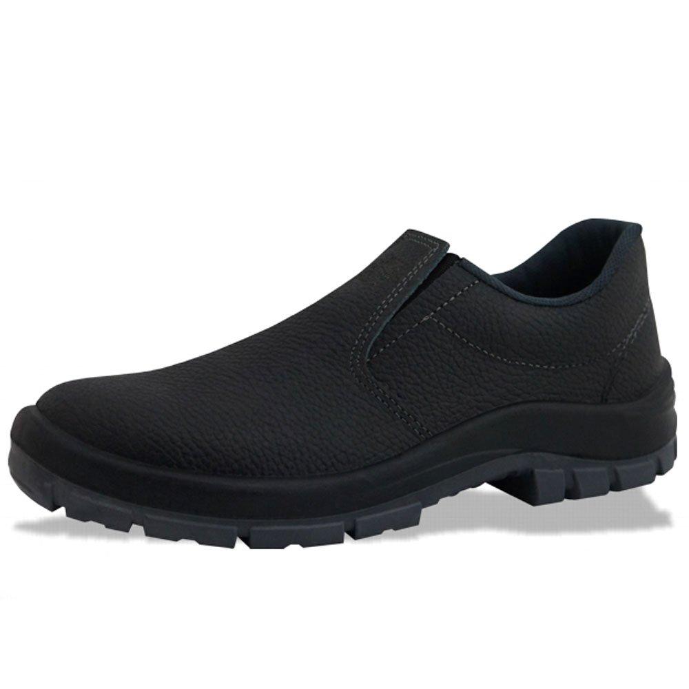 Sapato de Segurança Flex Elástico em Couro Preta - Número 39 - Imagem zoom