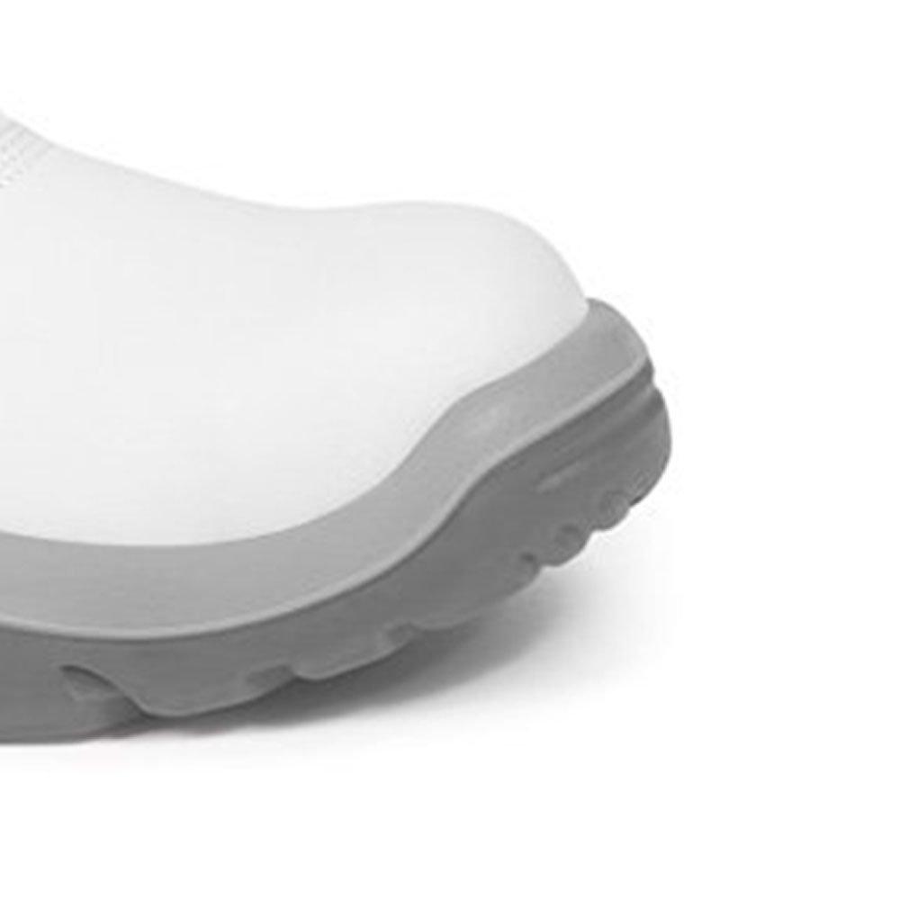 Botina de Segurança Branca em Microfibra com Elástico Nº 41 - Imagem zoom