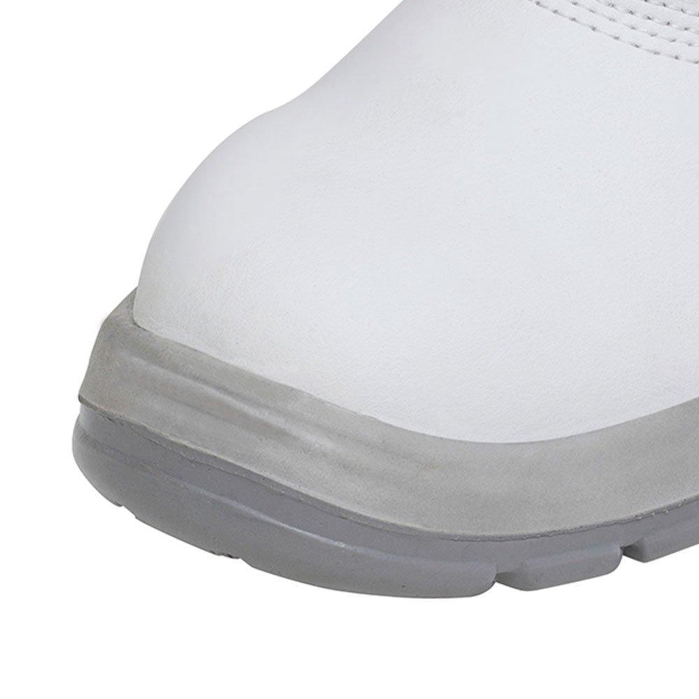 Botina de Segurança Branca em Microfibra com Elástico Nr. 42 - Imagem zoom