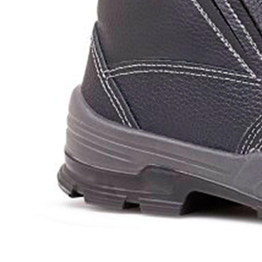 Botina de Segurança Sem Bico de Ferro Preta N°43 - Imagem zoom