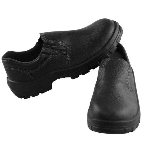 sapato de seguran鏰 com bico em pu preto n�