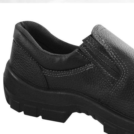 Sapato de Segurança com Bico em PU Preto Nº38 - Imagem zoom