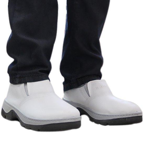 Sapato de Impacto com Elástico e sem Bico de Aço Branco N° 40 - Imagem zoom