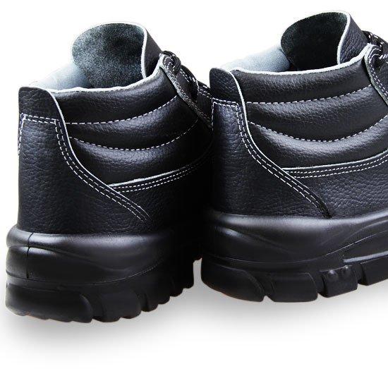 Botina de Segurança de Amarrar Premium 3 Gomos Preto com Bico em PVC N° 38 - Imagem zoom