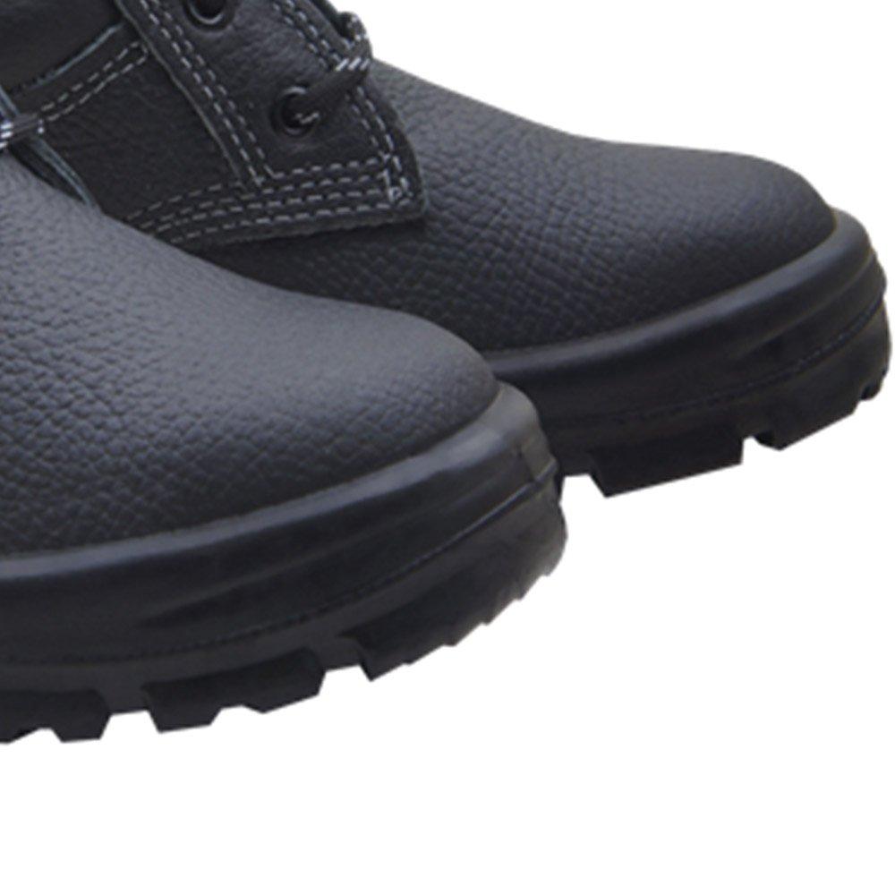 Botina de Segurança de Amarrar Premium 3 Gomos Preto com Bico em PVC N° 39 - Imagem zoom
