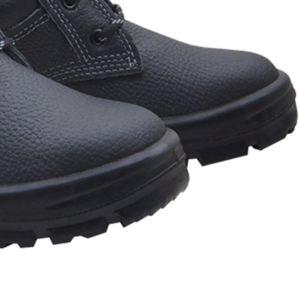 Botina de Segurança de Amarrar Premium 3 Gomos Preto com Bico em PVC N° 44 - Imagem zoom