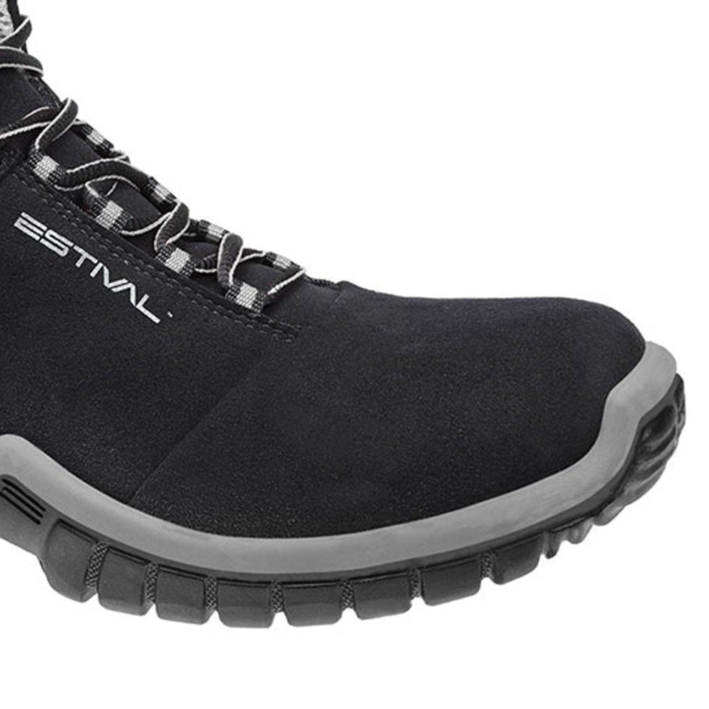 Sapato de Segurança Energy Cano Médio com Bico de PVC N°40 Cinza - Imagem zoom