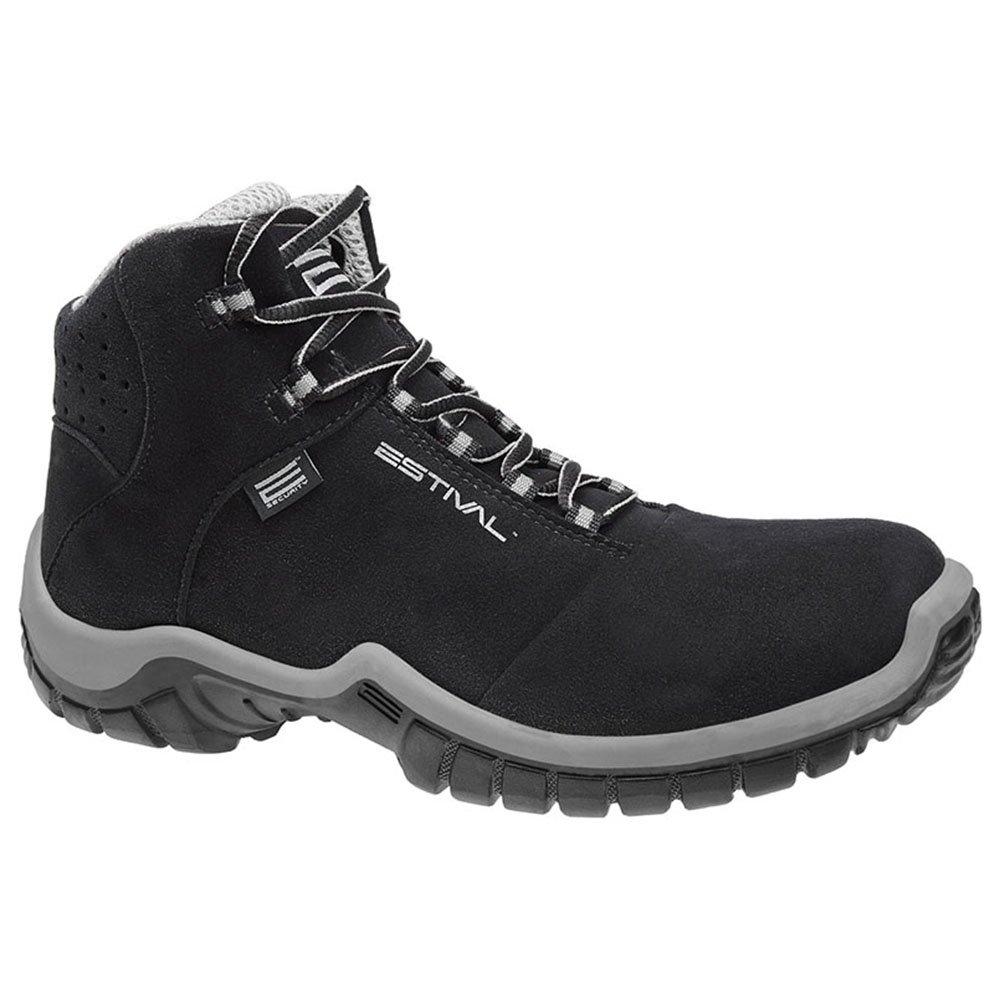 Sapato de Segurança Energy Cano Médio com Bico de PVC N°44 Preto/Cinza - Imagem zoom