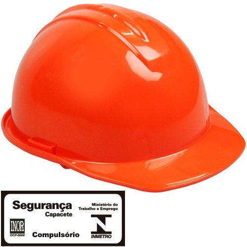 capacete de segurança evolution laranja com carneira