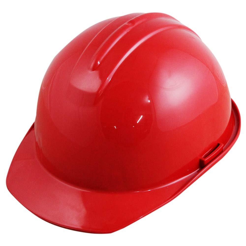 Capacete de Segurança Vermelho com Carneira - Evolution - Imagem zoom