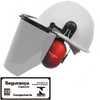Capacete Evolution Branco com Protetor Facial e Abafador CG 108 - Imagem 1