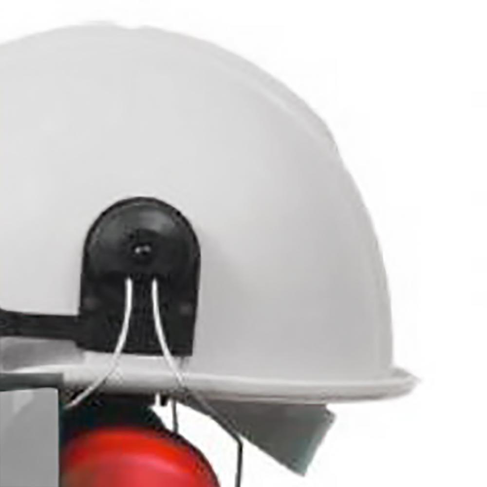 Capacete Evolution Branco com Protetor Facial e Abafador CG 108 - Imagem zoom