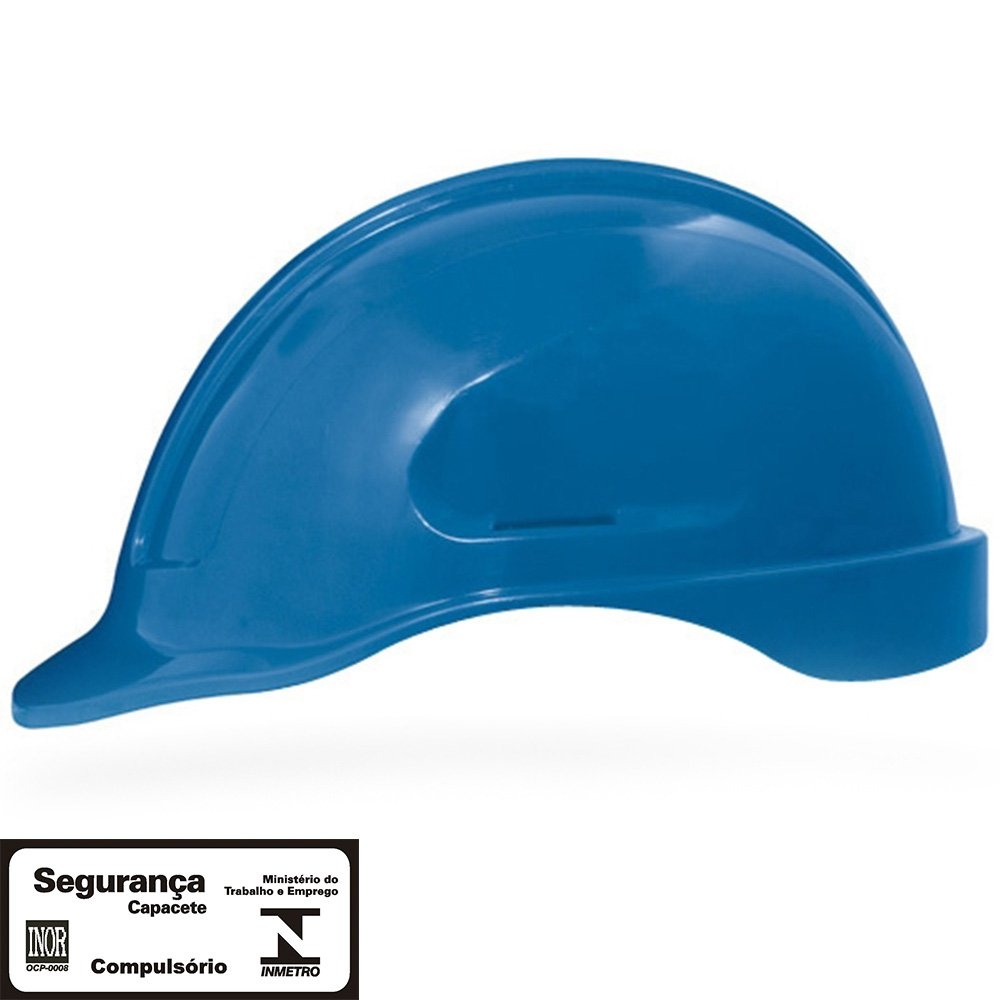 Capacete de Segurança Azul Turtle sem Suporte - Imagem zoom