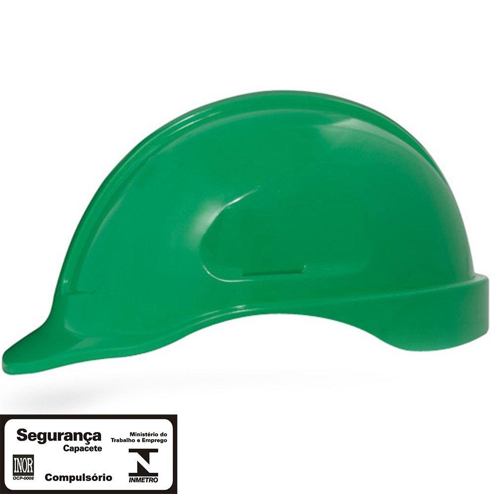 dc6cbbc61dff2 Capacete de Segurança Verde Turtle sem Suporte - STEELFLEX-STF ...