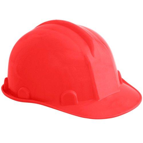 capacete de segurança vermelho com carneira