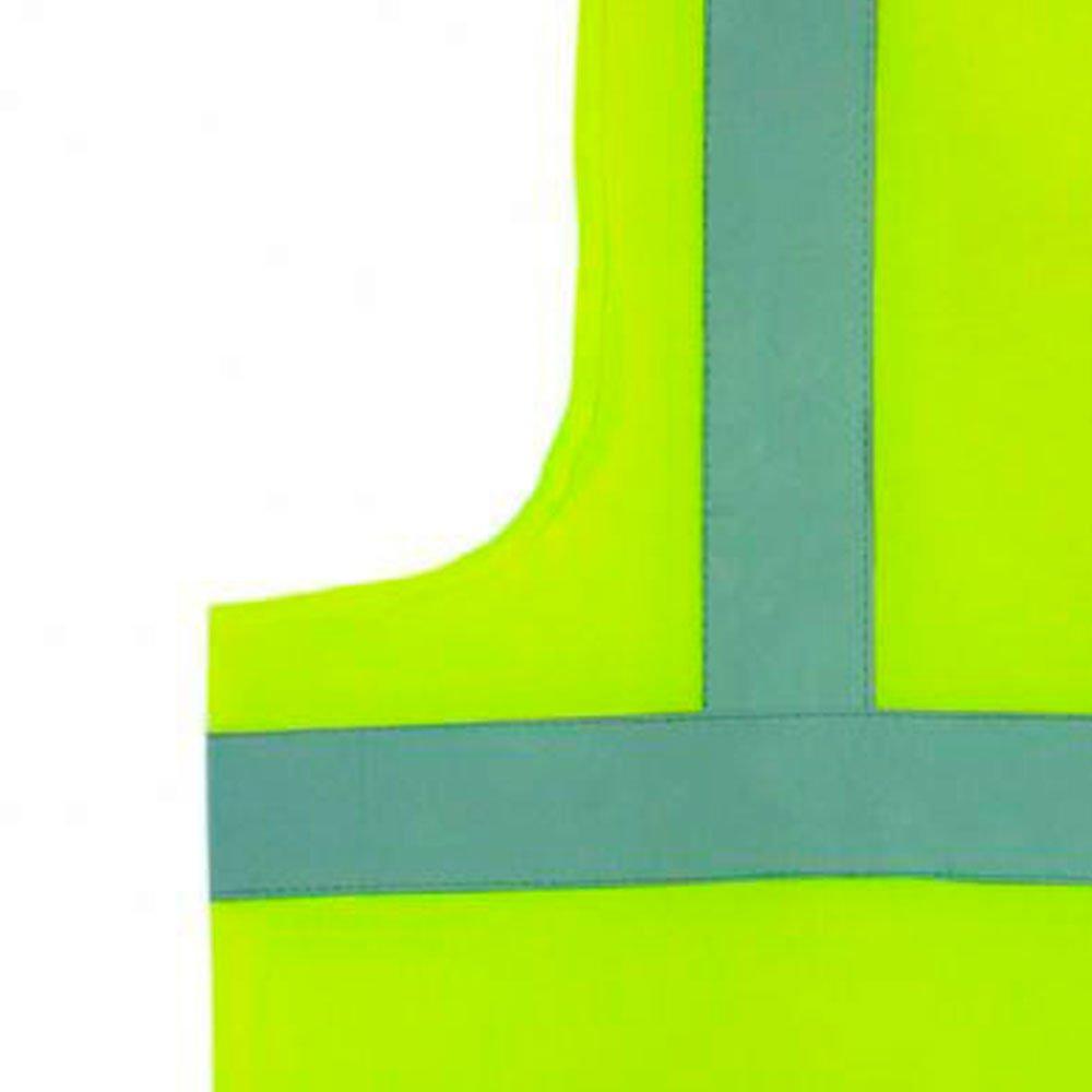 Colete Refletivo Jaqueta Amarelo Fluorescente XXG - Imagem zoom