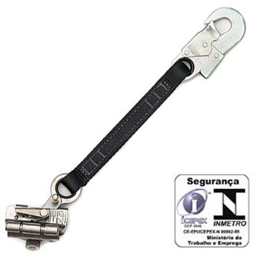 trava-queda em aço inox para corda de 12mm extensor fita