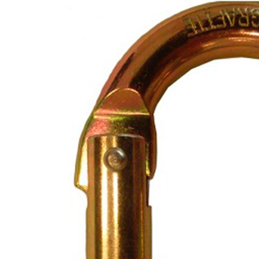 Mosquetão Oval Abertura 18mm com Trava Dupla - Imagem zoom