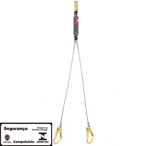 talabarte em y 1.60m com absorvedor de energia cabo de aço 55mm