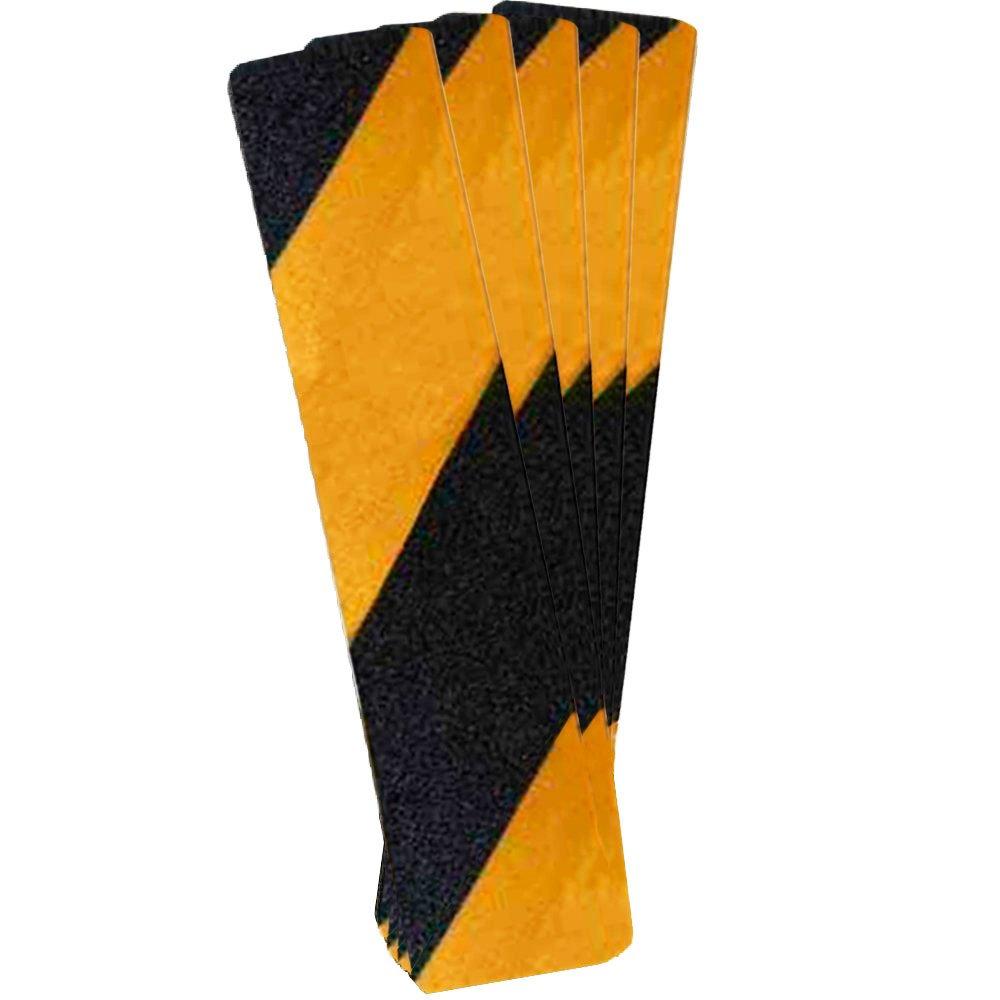 Fita Antiderrapante Preta e Amarela 300mm x 65mm com 5 Folhas - Imagem zoom
