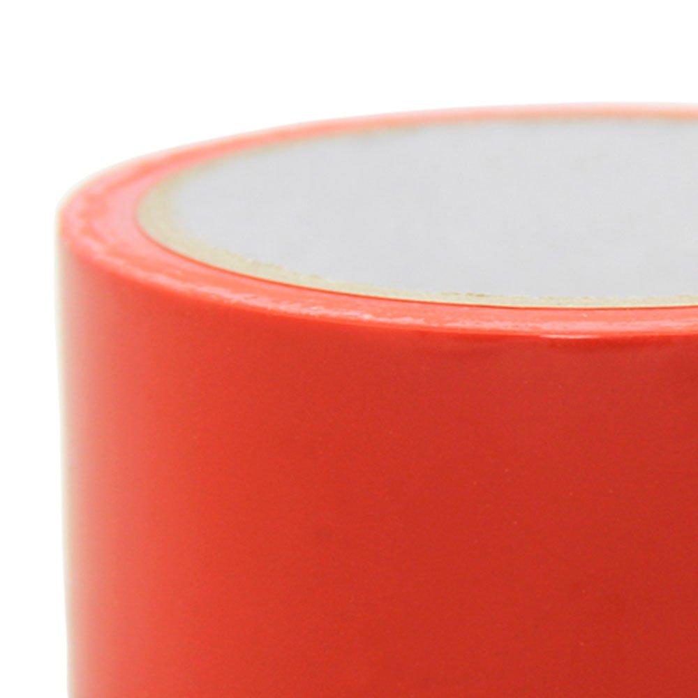 Fita para Demarcação de Solo Vermelho 48mm x 14m  - Imagem zoom