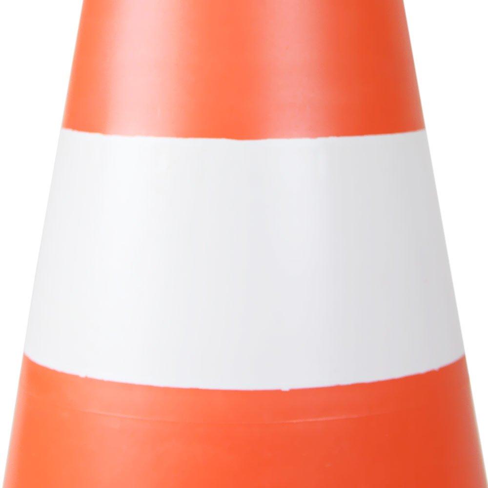 Cone sinalizador 50cm Branco E Laranja - Imagem zoom