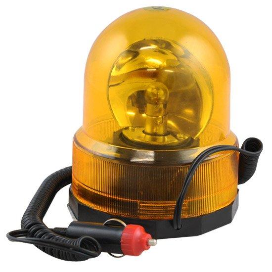 Luz de Emergência Giroflex Amarela Redonda 12V - Imagem zoom