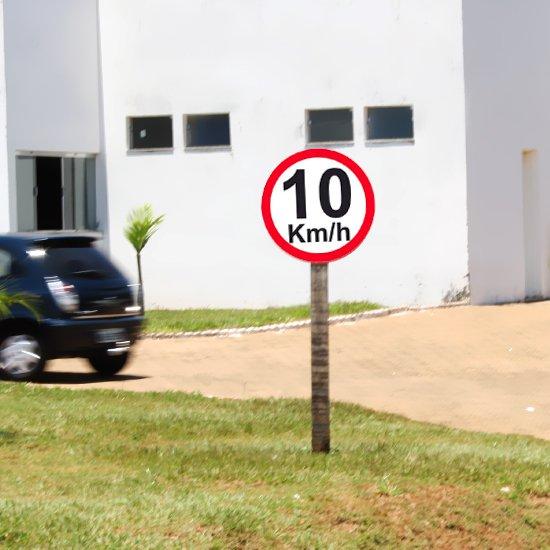 Placa Sinalizadora de 10Km - 40cm com 1,5mm de Espessura - Imagem zoom