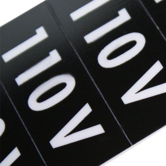 Plaqueta de Identificar Tomada 110 V com 13 Unidades Destacáveis - Imagem zoom