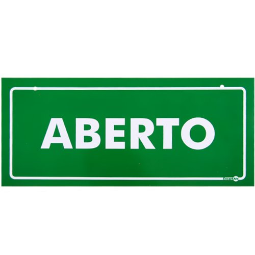placa sinalizadora de aberto / fechado