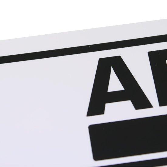 Placa Sinalizadora de Aberto Bilíngue - Imagem zoom