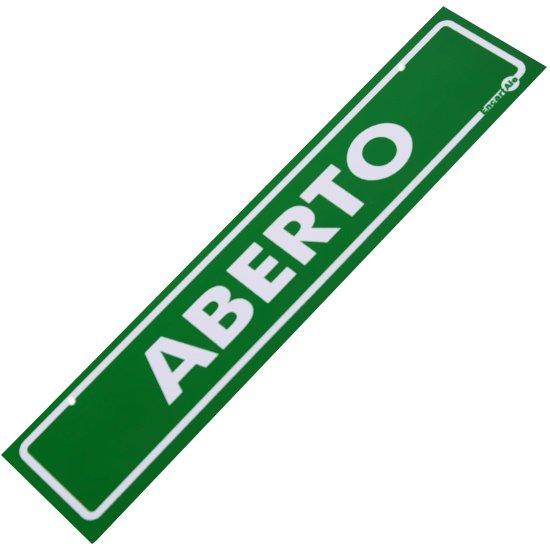Placa Sinalizadora Aberto / Volto Logo - Imagem zoom