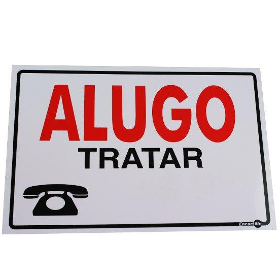 Placa Sinalizadora Alugo  - Imagem zoom