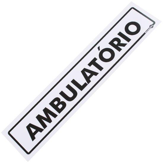 Placa Sinalizadora para Ambulatório - Imagem zoom